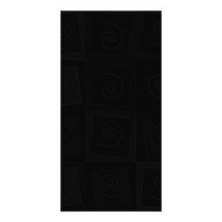 144 BLACK SWIRLS SQUARES DARK PATTERN DIGITAL WALL PHOTO CARD TEMPLATE