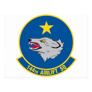 144th Airlift Squadron Postcard