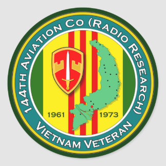 144th Avn Co RR 1 - ASA Vietnam Round Stickers