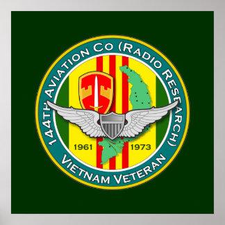 144th Avn Co RR 3 - ASA Vietnam Poster