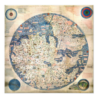 1458 World Map by Fra Mauro Photograph