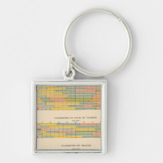 145 Farms by income Silver-Colored Square Keychain