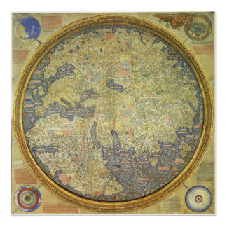 1460 The Fra Mauro Inverted World Map Poster