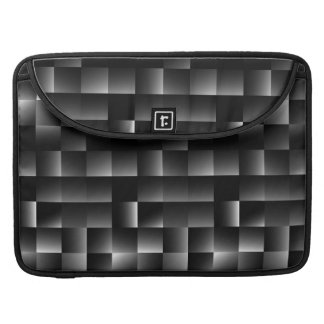 146 BLACK GREY SHINY SQUARES MODERN STEEL NIGHT PA SLEEVE FOR MacBook PRO