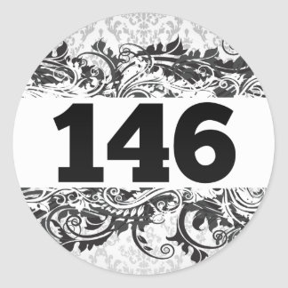 146 CLASSIC ROUND STICKER