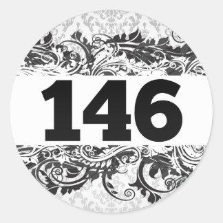 146 PEGATINA REDONDA