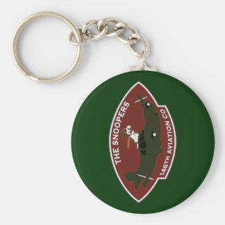 146th Aviation - The Snoopers Basic Round Button Keychain