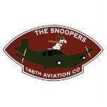 "146th Aviation - The Snoopers Cutout<br><div class=""desc"">A pocket type patch for the 146th Aviation Company - The Snoopers - Radio Research of the 224th Aviation Battalion in Vietnam</div>"