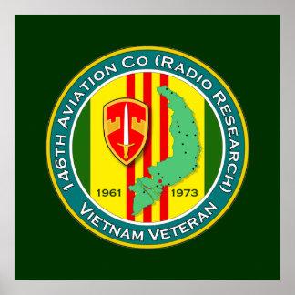 146th Avn Co RR 1 - ASA Vietnam Poster