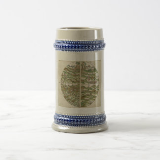 1475 Oldest Known Woodcut World Map Beer Stein