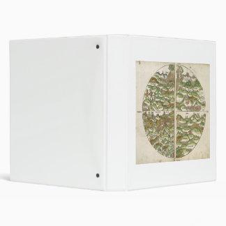 1475 Oldest Known Woodcut World Map Binder