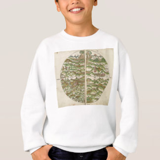 1475 Oldest Known Woodcut World Map Sweatshirt