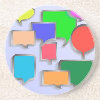 147Speech Bubbles_rasterized Coaster
