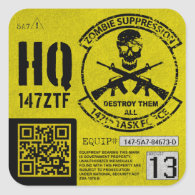 147th Zombie Task Force Headquarters Unit ID Sticker
