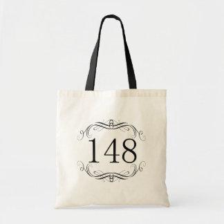 148 Area Code Budget Tote Bag