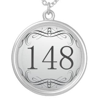148 Area Code Round Pendant Necklace