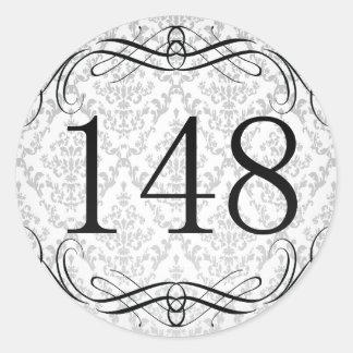 148 Area Code Classic Round Sticker