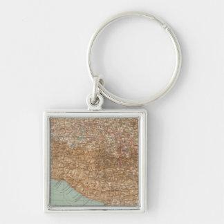 148 Central Mexico Silver-Colored Square Keychain