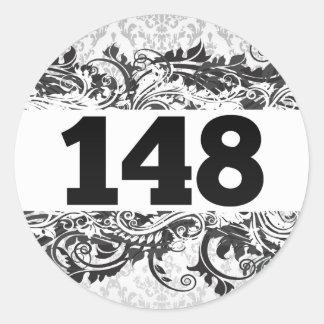 148 CLASSIC ROUND STICKER