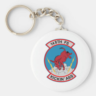 148th Fighter Squadron Basic Round Button Keychain