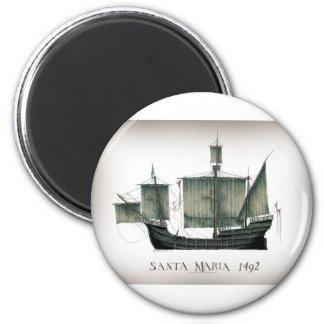 1492 Santa Maria by Tony Fernandes Magnet