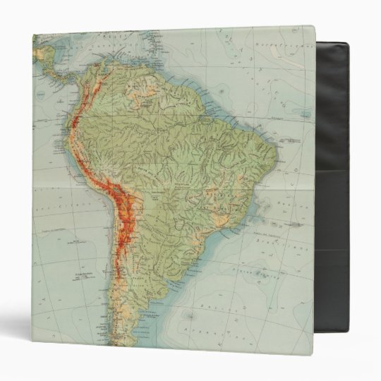 14950 South America Physical 3 Ring Binder