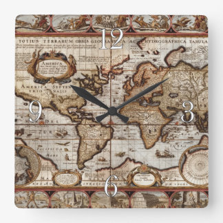 1499 Old World Map Antique History Designer Clock