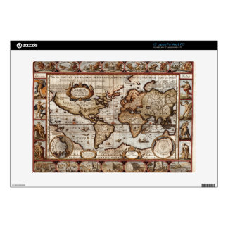 1499 World Map w The Americas device protector Decals For Laptops