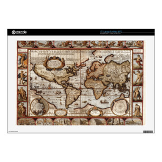 1499 World Map w The Americas device protector Skins For Laptops
