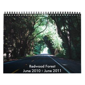 149, Redwood ForestJune 2010 - June 2011 Calendar