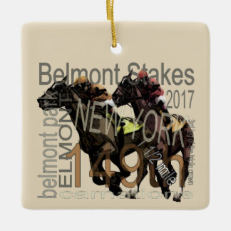 149th Belmont Stakes Thoroughbred Horse Racing Ceramic Ornament