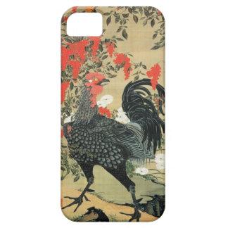 14. 南天雄鶏図, 若冲 Red Nuts and Rooster, Jakuchū iPhone 5 Cases
