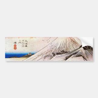 14. 原宿, 広重 Hara-juku, Hiroshige, Ukiyo-e Pegatina Para Auto