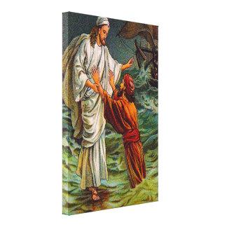 14:28 de Matthew - el señor 33, me ahorra lona Impresion De Lienzo