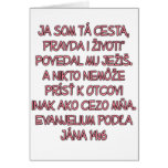 14:6 de Juan eslovaco Felicitaciones