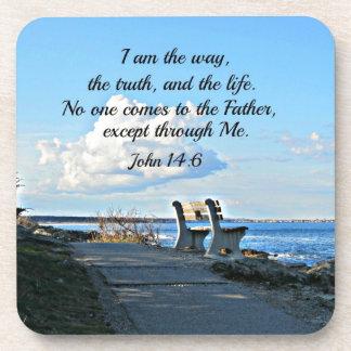 14:6 de Juan soy la manera… Posavasos De Bebida