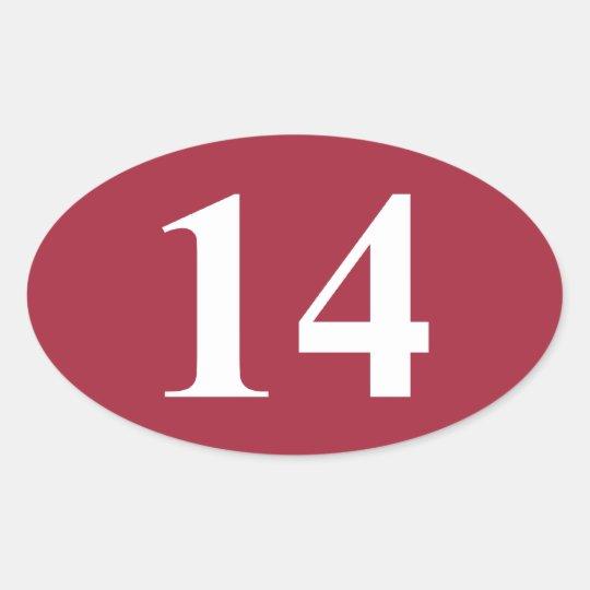 14 Alabama Championships Oval Sticker