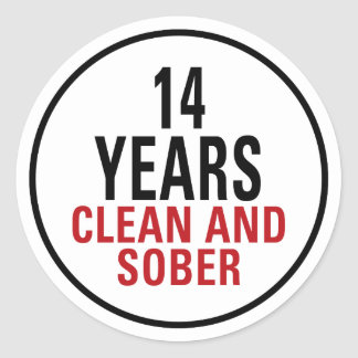 14 años limpian y calman pegatina redonda