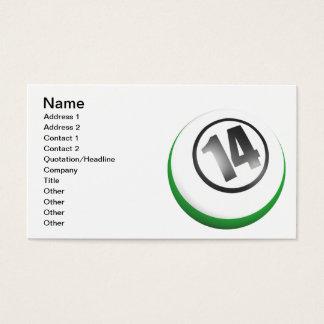 14 Ball Business Card