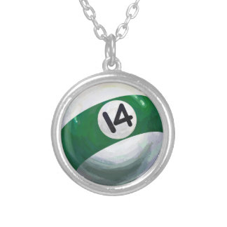 14 Ball Silver Plated Necklace