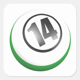 14 Ball Square Sticker