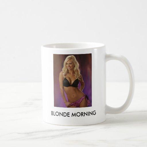 14, BLONDE MORNING CLASSIC WHITE COFFEE MUG