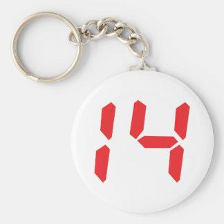 14 catorce números digitales del despertador del r llaveros personalizados