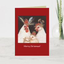 (#14) Chicken family Christmas card