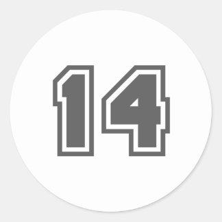 14 CLASSIC ROUND STICKER