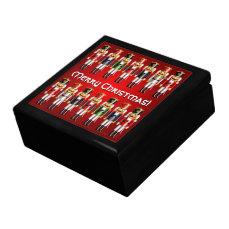 14 Colorful Xmas Nutcracker Toy Soldiers Jewelry Box