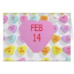 14 de febrero en el corazón grande para una tarjet tarjeta