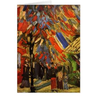 14 de julio celebración en bella arte de París Van Tarjeta De Felicitación