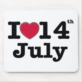 14 de julio mi día de cumpleaños alfombrilla de ratón