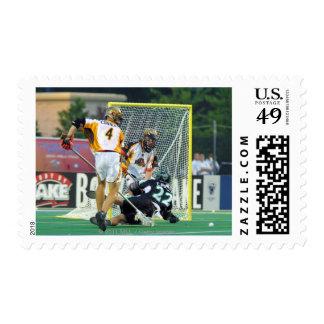 14 de junio de 2001:  Casey Powell #22 de largo Sellos
